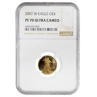 2007 W 1/10 oz $5 Proof Gold American Eagle NGC PF 70 UCAM