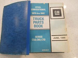 CHEVY GM GENERAL MOTORS DEALER PARTS CATALOG BOOK MEDIUM DUTY C5D C6D C7D STEEL