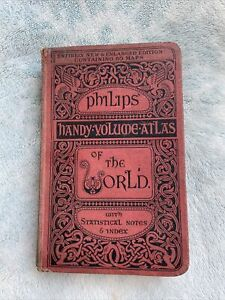Philips Handy Volume Atlas Of The World With Statistical Notes & Index 1930