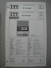 ITT/Schaub Lorenz SL 58 Super Service Manual, TB045, TB045A
