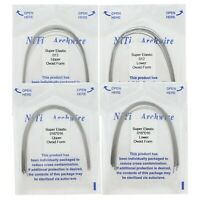 10PC Dental Orthodontic Super Elastic Niti Arch Wire Round Rectangular Ovoid U/L