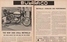 1966 Bultaco 250cc Metralla Road Racer Motorcycle - 2-Page Vintage Ad