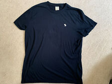 Men's Abercrombie and Fitch size XXL Short Sleeve top solid Navy Blue t-shirt