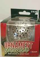 Christmas Ornament Speaker Bluetooth Solaray 4.2 Wireless Silver