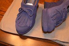BOTTEGA VENETA purple suede Wedges Pumps Shoes (size 39)