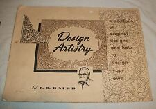 FO BAIRD DIY ART CRAFT LEATHER PORTFOLIO TOOL PATTERN DESIGN CRAFTSMAN BOOK VTG