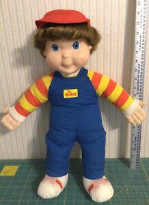 Vintage 1986 My Buddy Hasbro Playskool Brown Hair,Bright Blue Eyes Boy w Hat