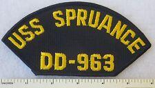 USS SPRUANCE DD-963 - US NAVY DESTROYER SHIP CAP PATCH HAT INSIGNIA 1975-2005