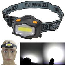 Linterna de Cabeza COB Luz De Trabajo Antorcha Lámpara Camping Brillante Ligero