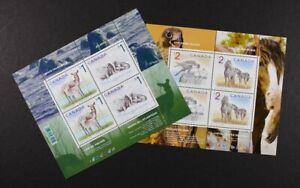 CANADA 2005 #1689b, Deer & Walrus, #1692b Falcon & Horse, set of 2 S/S Mint NH