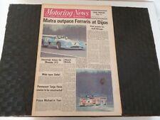 MOTORING NEWS 19 APRIL 1973 HENRI PESCAROLO/GERARD LARROUSSE *PAGE MARKS*