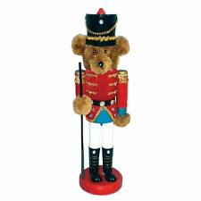 "Teddy Bear Toy Wooden Soldier Christmas Nutcracker 14"" - Beautiful & Ornate"