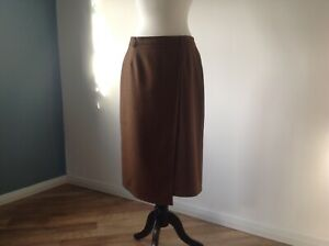 Ladies Brown Wool Skirt By HOUSE OF BRUAR 16 Immaculate Condition !