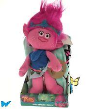 "Kids Trolls Poppy Happy Vibes Pillow & Soft Throw Blanket Set, 40"" x 50"" S1+5"