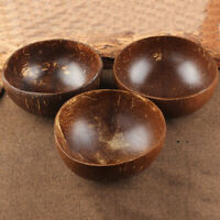 COCONUT SHELL BOWL SPOON CRAFT FRUIT SALAD NOODLE RICE FOOD CONTAINER FUNNY