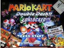 GAMECUBE Mario Kart + Super Smash Bros Melee MEMORY CARD -GAMES FULLY UNLOCKED-