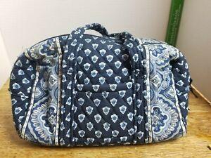 Vera Bradley Purse Handbag Nantucket Navy Satchel (Retired) Pre Owned (RT1)