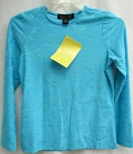 DIALOGUE..TURQUOISE BLUE..STRETCHABLE..NYLON..TUNIC TOP..NEW..SMALL