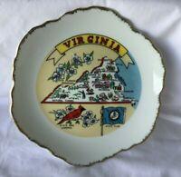 * Vintage Souvenir China State Plate VIRGINIA