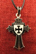 Teutonic Knights Order Cross Templar Medieval Gold Plated Pendant Necklace