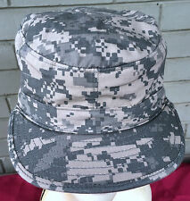Military Army Digital Camo Patrol Cap Hat WIth Hidden Protractor Size 7 1/4