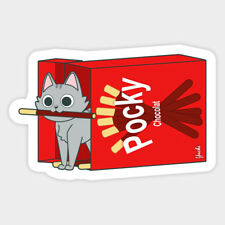 Pocky Choco Yuchi Asian Snack Japan Foodie Vinyl Decal Laptop Car Bumper Sticker