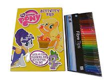 Niños Niñas My Little Pony Para Colorear libro de actividades + 30 PLUMAS