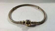 "Authentic Pandora  14K Gold Bracelet with Barrel Clasp 7.1 "" 18 cm  #550702"