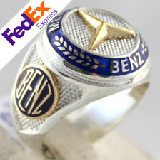 Turkish Handmade 925 Sterling Silver Mercedes BENZ Symbol Men's Ring All Sizes