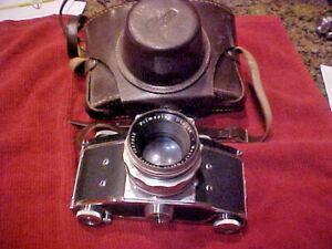 Ihagee Exakta VX Camera + Primoplan Meyer-Optik Görlitz 1:19/58 Lens & Case