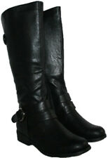 LADIES BLACK BELOW KNEE HIGH BOOTS WITH SIDE ZIP IN SIZE 5