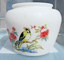 Avon collectible jar Birds finches white vase planter