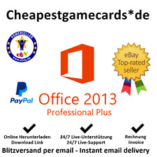 Microsoft Office 2013 5 PC PROFESSIONAL PLUS MS Office 2013 PP key tramite email