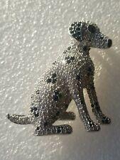 Vintage Swarovski Crystal Dalmatian Dog Pin/Brooch Read