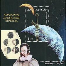 Aserbaidschan Azerbaijan Europa CEPT 2009, Astronomie, Block **, Galileo Galilei