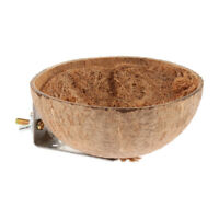 Natural Coconut Shell Bird Nest House Hut Cage Feeder Pet Parrot Toy