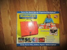 New In Box WonderFile - Portable & Foldable Organization Workstation  Red*