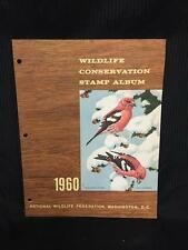 1960 Wildlife Conservation Stamp Album White Winged Crossbill - Collectors