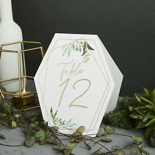Botantic Table Numbers 1-12
