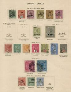 CEYLON: 1895-1900 Examples - Ex-Old Time Collection - Album Page (42644)