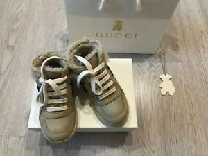Gucci baby Sheepskin high-top sneakers size EUR 23 (US 7, UK 6.5)