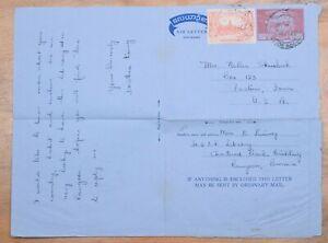 MayfairStamps Burma 1958 Rangoon to Preston Iowa Used Stationery Aerogramme wwo8