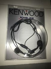 Kenwood Khs-22 Behind The Head Headset In-line Push To Talk