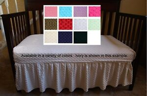 Minky Dots Crib Sheet Solid Crib Sheet