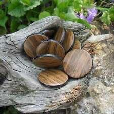 25 Perles Résine palet imitation bois