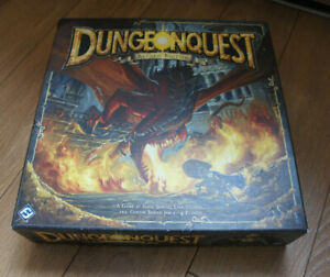 Rare DUNGEONQUEST Board Game Revised Edition Dungeon Quest Fantasy Flight Games