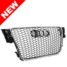 08-12 AUDI A5/S5 B8 8T RS5 STYLE EURO HONEYCOMB HEX MESH GRILLE - CHROME TRIM
