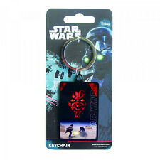 Star Wars The Phantom Menace Darth Maul Premium Steel Licensed Keychain
