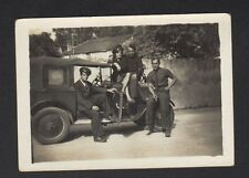 LOT de 2 Photos Amateur / MILITAIRE & AUTOMOBILE période 1920-1930