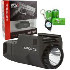 Inforce Aplc WeaponLight for Glock - Black Acg-05-1 w/ 3x Cr2s & Keychain Light